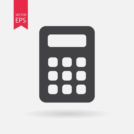 calculator icon: Calculator Icon Vector. Calculator sign isolated on white background.
