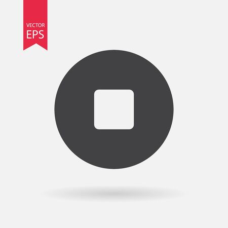 stop button: Stop button vector icon. Stop sign isolated on white background. Vector illustration