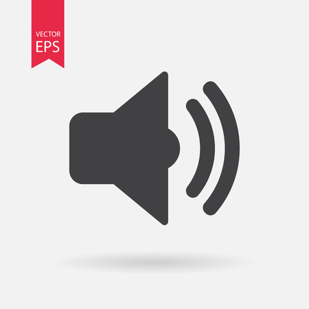 louder: Sound icon vector . Flat design. Sound sign isolated on white background