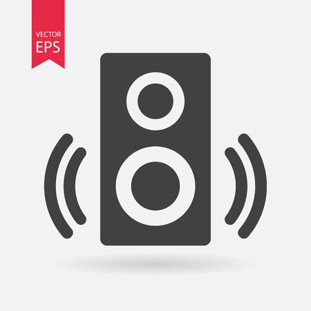 speaker icon: Speaker Icon Vector. Speaker sign isolated on white background. Speaker silhouette. Vector Flat design