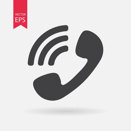 Icona Telefono Vettore. segno telefono isolato su sfondo bianco. silhouette del telefono. Vector piatto disegno