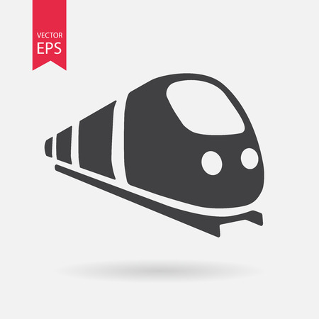 Capacitar icono del vector. Diseño plano. Tren signo aislado sobre fondo blanco Ilustración de vector