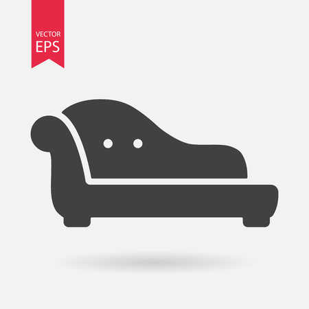 chester: Sofa icon vector. Luxury glamour sofa sign isolated on white backround. Vector illustration