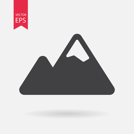 winter range: Mountain IconMountain Icon vector. Mountain sign isolated on white background. Flat design style Illustration
