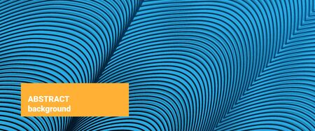 backgroung: Abstract backgroung. Irregular striped texture. Blue wave pattern for Web, website, mobile app. Template for modern design, layout poster, booklet, brochure, notes, backdrop. Vector illustration.