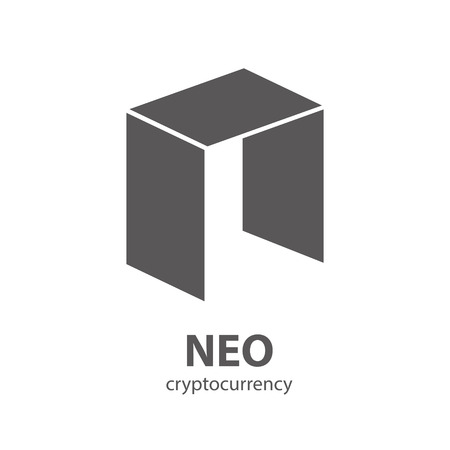 NEO vector icon isolated on white. Neo shape Cryptocurrency, e-currency, payment, crypto currency, blockchain sign. Black white logo, flat adaptation design for web, website, mobile app, EPS.