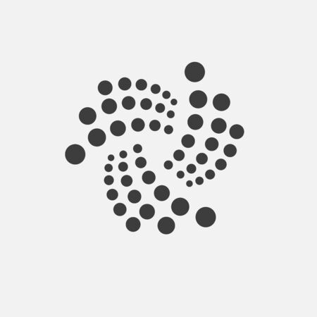 IOTA adapted icon. Iota cryptocurrency, e-currency, payment crypto currency, blockchain logo button. Flat minimalist adaptation design web site mobile app EPS Isolated on white background Stock Photo