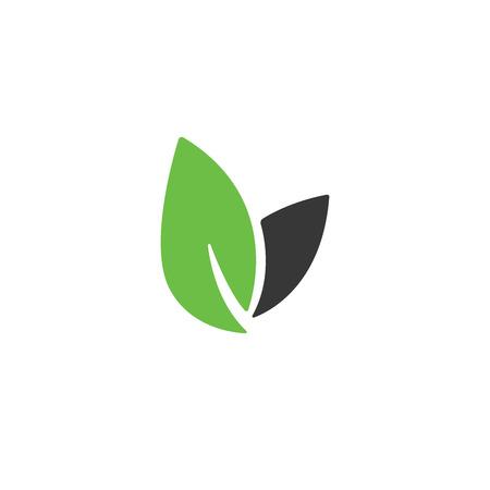 Leaf vector , health icon, vegan vegetarian, wellness, spa concept. Bio eco symbol isolated on white, flat design. Foto de archivo - 115452117