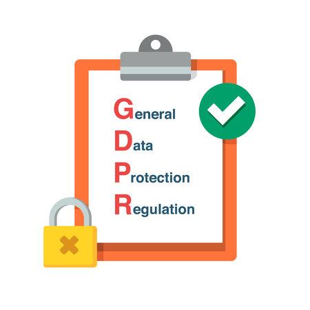 GDPR General Data Protection Regulation. Vector flat design illustration. Safety information concept