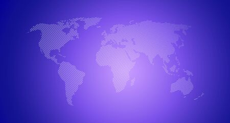World map. Earth, prple gradient colored map template for web site, app, inphographics. Globe similar worldmap flat silhouette, shape. Travel worldwide backdrop. Vector hand drawn background
