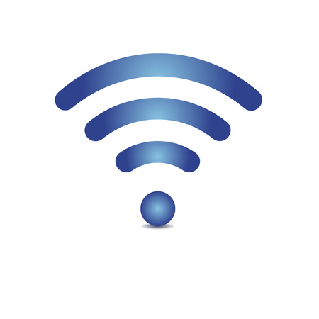 Gradient icon wifi on white background with shadow Çizim