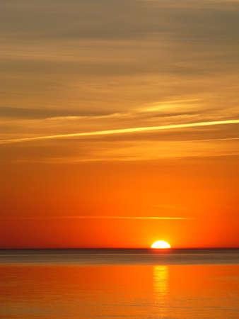 latvia: Jurmala, Latvia, summer, sunset of a sun on a sea
