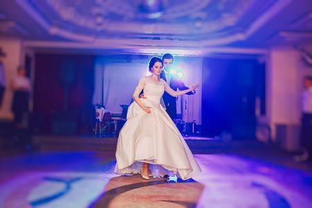 romantic couple dancing on their wedding HD Stock Photo
