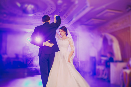 romantic couple dancing on their wedding HD Stock Photo