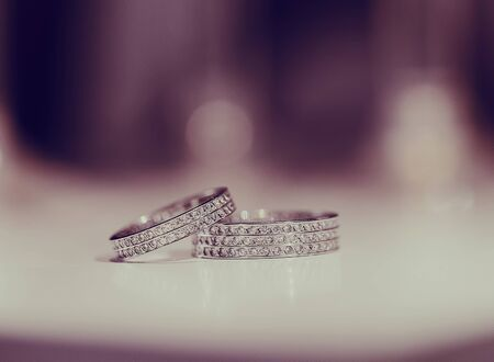 diamond rings: charming wedding in the old castle architecturenature and the sun