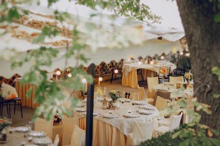 authentieke bruiloft prachtige jong koppel met een ongelooflijke landschap Stockfoto