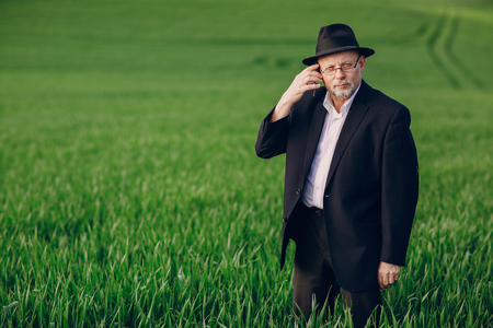 old man in field