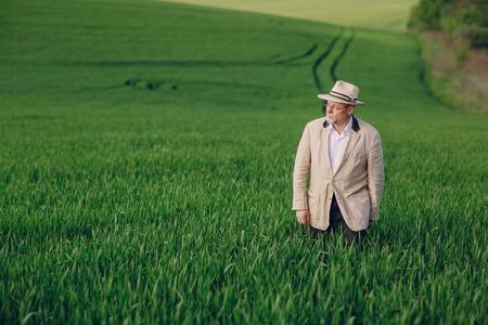 old man in field