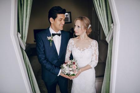 brides in door Stock Photo