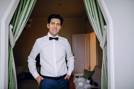 a man in a white shirt Stock Photo - 81377199