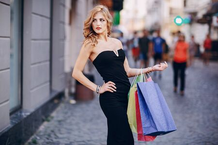 clothing store: beautiful girl on the street