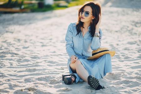 chic: girl on the beach