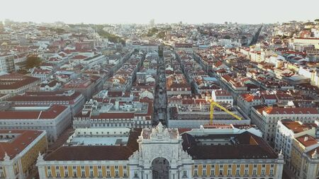 리스본, 포르투갈에서 유명한 오거 아치와 루아 오 거 스타