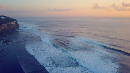 strong big foammy waves