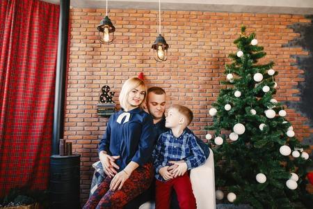 happy family of three Reklamní fotografie
