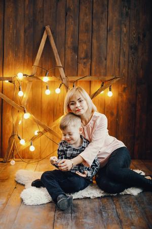 happy family of two Reklamní fotografie
