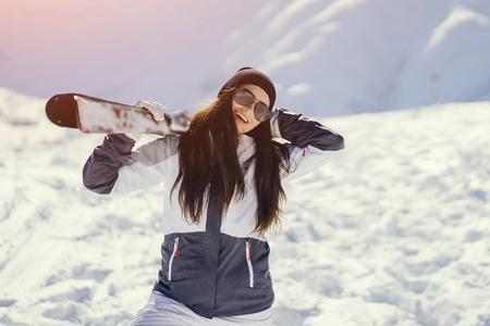 meisje met ski