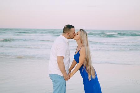 beautiful family on the beach