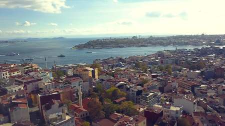 lively istanbul turkey on a sunny day