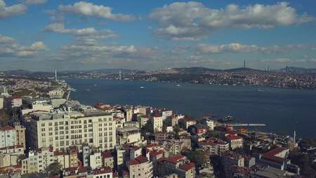 view of istanbul turkey from the sky on a sunny day