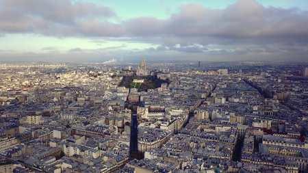 aerial view of sacre coeur in paris