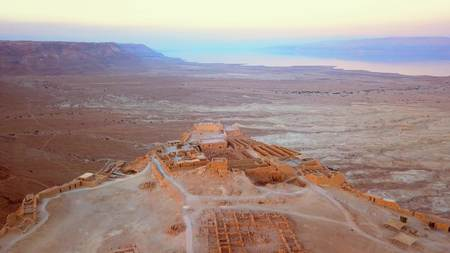 이스라엘의 사해에 의한 사막 비행 스톡 콘텐츠 - 96744241