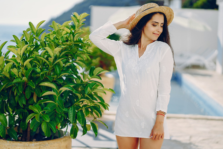 girl in a resort Archivio Fotografico