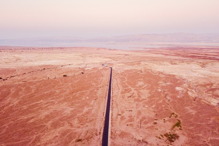 flyover of the desert by the dead sea 스톡 콘텐츠 - 100561140