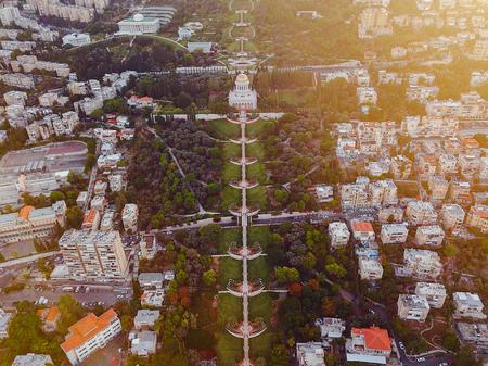 flyover of the gardens in Haifa