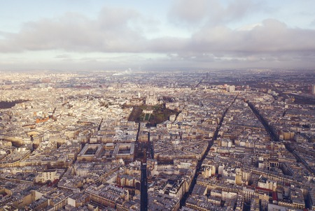 aerial view of sacre coeur in paris france Stock Photo