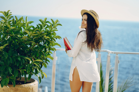 girl near sea