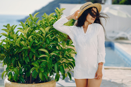 girl in a resort Stock Photo
