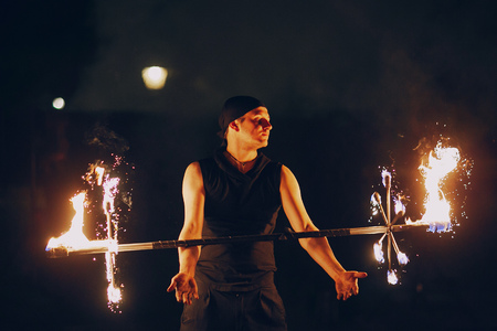 fire show in a wedding