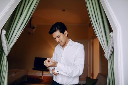 a man in a white shirt