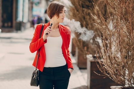 girl with the electronic cigarette