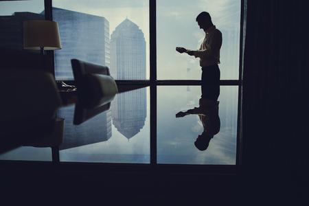 Man near window Stock Photo - 114281995