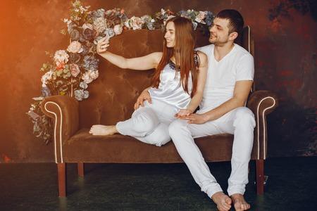 Couple in a studio