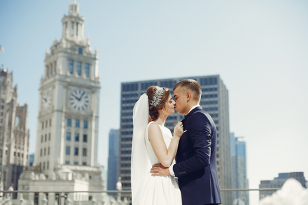 Beautiful wedding couple Banco de Imagens