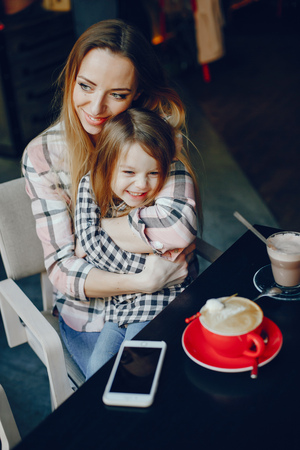 mother with daughter Banco de Imagens