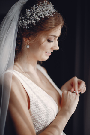 Elegant morning bride